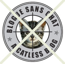 "Logo de ""Blogue sans chat"" barré"