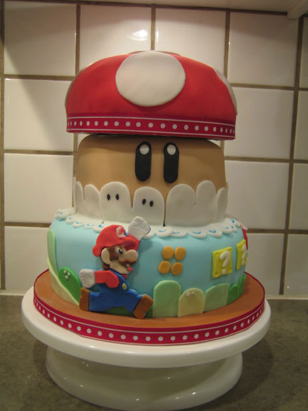 {Photo de gateau avec Mario}