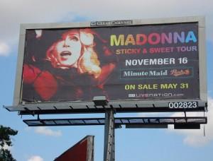Madonna Concert Billboard